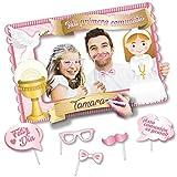 Marco Photocall decorado para comunión de niña con accesorios incluidos