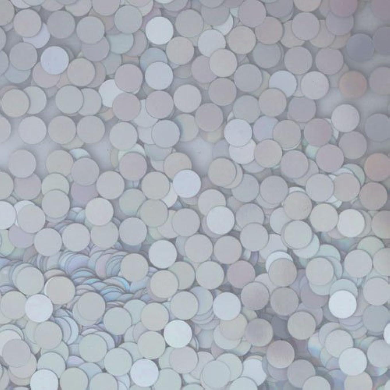 アリス魅惑する成分ピカエース ネイル用パウダー ピカエース 丸ホロ 1.5mm #883 マットシルバー 0.5g アート材