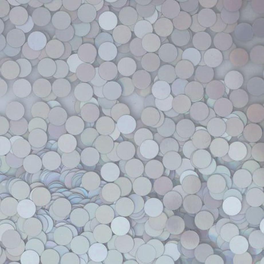 命令的居間夢ピカエース ネイル用パウダー ピカエース 丸ホロ 1.5mm #883 マットシルバー 0.5g アート材