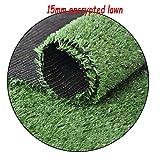 XEWNEG Deep Green Kunstrasen, Geeignet for Wanddekoration/City Engineering/Garten-Dekoration, Verschlüsselt Wasserdicht 15mm gefälschten Rasenteppich, Breite 2M (Size : 2x5M)