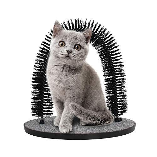 Arch Cat Groomer Self Grooming Cat Toy Cat Self Groomer Massager and Cat Scratcher Hair Trimming...