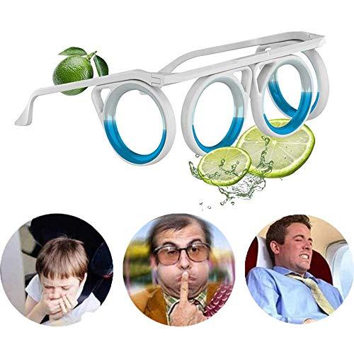 ERTGHJ Gafas De Enfermedad Antimoción, Gafas Sin Lente Líquido De Nivel De Ojos, Gafas Líquidas Sin Lente Plegables Portátiles, Adecuadas para Viajes, Avión, Coche, Barco Y Viaje De Embarazo 1PCS
