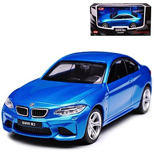 B-M-W 2er F22 M2 F87 Coupe Blau Ab 2013 1/43 CMC Toy Modell Auto mit individiuellem Wunschkennzeichen
