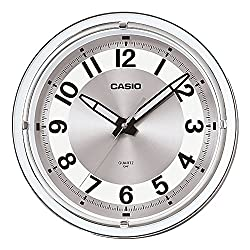 Casio IQ-61-8 Stylish Timekeeping in a Silver Round Analog Wall Clock