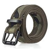 Jksdp 10 colores de la correa del ejército del combate Cinturón Negro de los pantalones vaqueros de la hebilla Cinturones de nylon elástico táctico, correa de camuflaje, 110cm