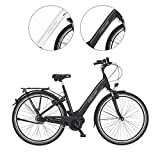 Fischer E-Bike City CITA 3.1i, Elektrofahrrad, schwarz matt, 28 Zoll, RH 44 cm, Mittelmotor 50 Nm,...