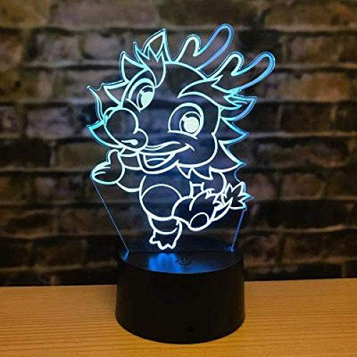Zodiac T Cute Children 3D Illusion Lamp Suitable For Boys And Girls Bedroom Bar Living Room Birthday Christmas Gifts Usb Charging Touch Mode 7 Color Variations
