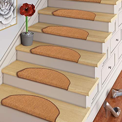 Pergamon Natur Sisal Stufenmatten Braun (halbrund) einzeln oder im 15er Set in 2 Größen