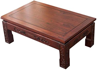 Brown Small Square Table Multifunctional Study Table Tatami Tea Table Office Reception Tea Table Indoor Living Room Small Table (Color : BrownC, Size : 60 * 40 * 30cm)