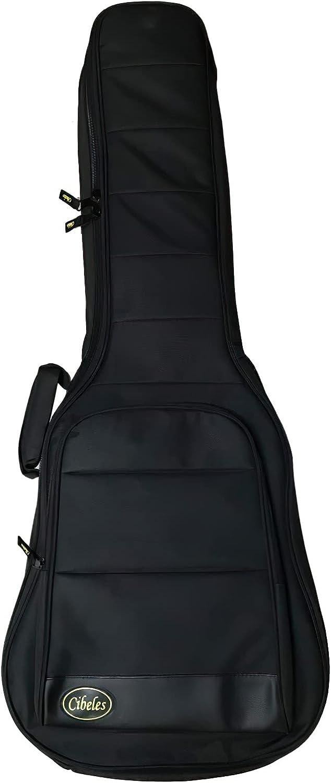 Funda para guitarra clásica con acolchado de 25mm, marca Cibeles - Espuma alta densidad (negro)