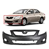 BUMPERS THAT DELIVER - Primered, Front Bumper Cover Fascia for 2009 2010 Toyota Corolla Sedan 09 10, TO1000343