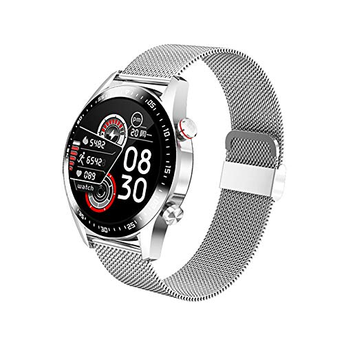 ZGZYL E1-2 Watch Smart Bluetooth Llamada IP67 Reloj De Fitness Impermeable con Monitor De Frecuencia Cardíaca, Podómetro, Monitor De Sueño, Reloj Despertador, Pulsera Inteligente Ultra Delgada,E