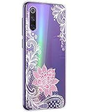 Oihxse Mandala Flores Encaje Patrón Serie Case Compatible con Samsung Galaxy A6 Plus 2018 Funda TPU Silicona Suave Protector Ultra Slim Anti-Rasguño Transparente Carcasa (A6)