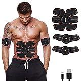 KJHG Entrenador de estimulador de músculos Abdominales - Cinturón de Abdominales Cinturón tonificador para Abdominales/Brazos/Piernas en Forma de tonificador Equipo para Hombres y Mujeres,red3h+3p