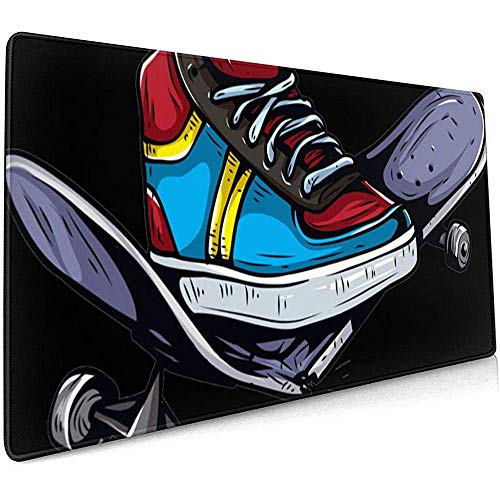 Skateboard Schoenen Grote Gaming Muis Pad,Extended Mat Bureau Pad,Mousepad,Non-lip Dikke Rubber Base Mouse Mat