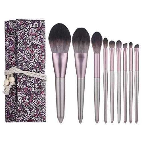 Pinceau De Maquillage Set 9 Pièces Outils Professionnels Beauté Maquillage Débutant Pinceau Fard À Paupières Avec Sac De Rangement
