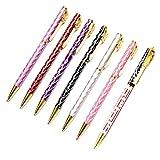 Favorict (7 Pack) Colorful Design Ballpoint Pen 5.5' with US Flag Design Pen NY Souvenir