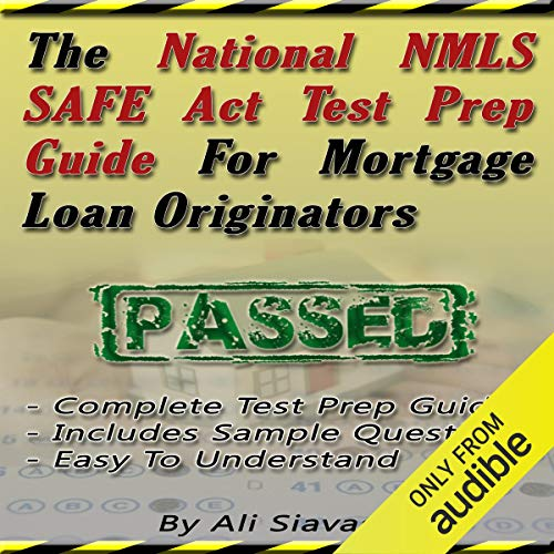 The National NMLS SAFE Act Test Prep Guide for Mortgage Loan Originators audiobook cover art