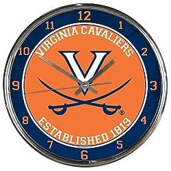 NCAA Virginia Cavaliers Chrome Clock
