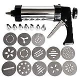 Presse à Biscuits Pistolet à Pâtisserie (22 Pcs) - Acier Inoxydable Kit de...