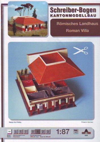 Aue Verlag Schreiber-Bogen Card Modelling Roman Villa 1:87