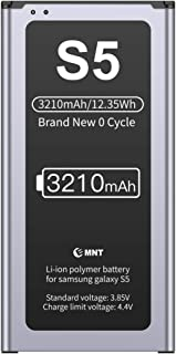 EMNT Battery Compatible Samsung Galaxy S5, 3210mAh Lithium-ion Internal Battery 110mAh Higher Capacity Than Others (800 Charge Cycles, UL,FCC and RoHS)