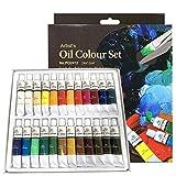 PHOENIX Oil Color Paint Set of 24 Tubes x 12 ml - Non-Toxic Paints for Kids,...
