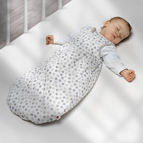 Coconette året baby sovsäck cirkel – 2 delar: lång ärm innersäck & fodrad yttersäck för sommar och vinter, 100 % bomull Größe: 62/68 (3-6 Monate) Weiß