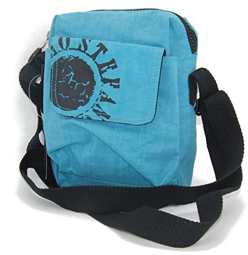 STEFANO Umhängetasche Crinkle Nylon Handtasche Rucksack Shopper Tasche Bauchtasche Verschiedene Modelle -präsentiert von RabamtaGO®- (klein-blau)