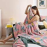 Sommerbettdecke Atmungsaktiv Allergiker Geeignet,Handtuchdecken aus weicher Baumwolle, Sommerdecke...