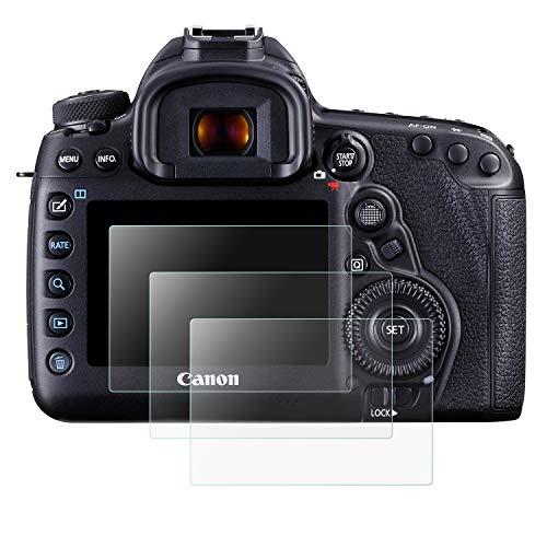 Mwoot 3 Pezzi Pellicole Protettive per Canon EOS 5D Mark IV 5D4 5DIV 5DS 5DS-R, Anti Graffi Vetro Temperato per Protezione dello Schermo