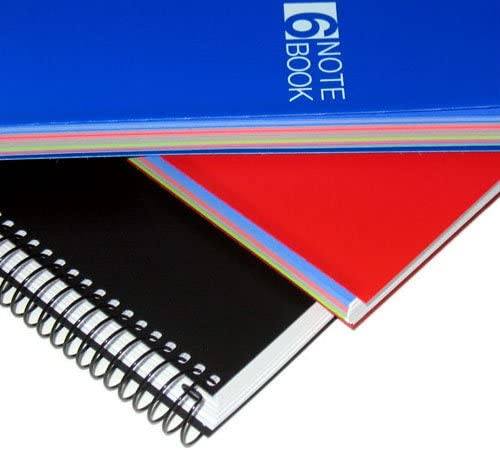 Graph//Quad Pages Miquelrius Small 4 Subject Spiral Notebook 4.5 x 6 Blue