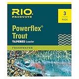Rio Powerflex Trout Leaders, 9ft 5X 6 PK