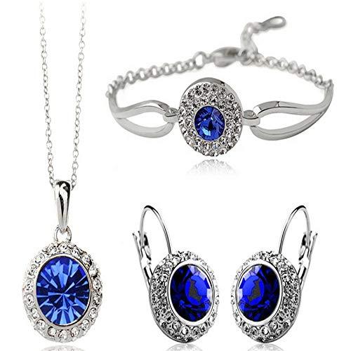arete Conjuntos De Joyas Collar Nupcial Pendientes Pulsera Boda Cristal Mujer Moda Conjunto De Joyas De Diamantes De Imitación