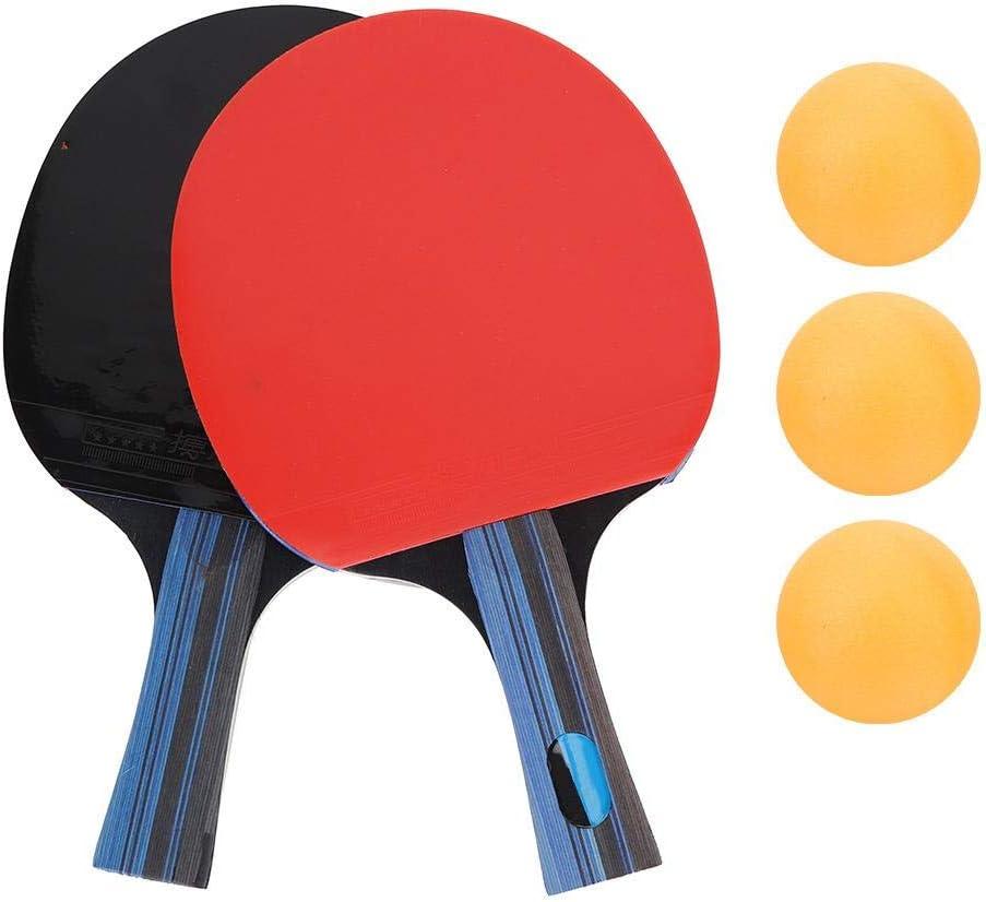1 par de paletas de Ping Pong con 3 Pelotas de Tenis Deportivo para Estudiantes de Tenis de Mesa Paleta de Raquetas de Ping Pong Equipo Deportivo