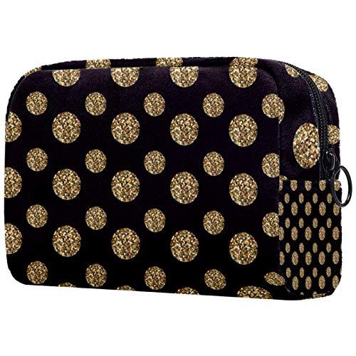 Bolsa de maquillaje con cremallera, organizador de cosméticos de viaje para mujeres, bolsas de aseo de flores verdes tropicales
