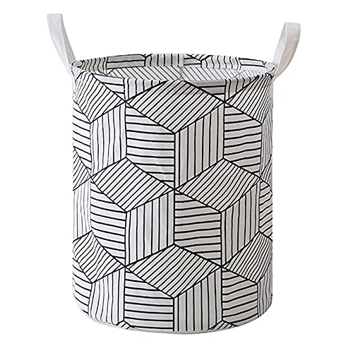 Plegable Cesto Ropa Sucia Grande Capacidad 50L Cesta Ropa Sucia para Guardar Juguetes de Ropa en el Dormitorio, Baño Lazo de la Cesta de lavadero de Almacenamiento Clasificador (WHITE)
