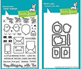 Lawn Fawn Clear Stamp & Die Set - Love letters LF1292 & LF1293