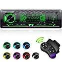CENXINY Autoradio mit Bluetooth Freisprecheinrichtung, 7 Farben Licht Einstellbar 1 Din Autoradio Bluetooth mit USB*2/AUX/TF, MP3 Player/FM Autoradio Radio mit Bass