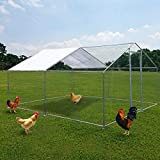 ECOLINEAR Outdoor Large Metal Chicken Coop Walk-in Hen House 10'Lx13'Wx6.6'H Poultry...