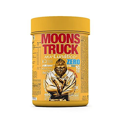 Moonstruck Zero - Pre entreno - Pre Workout en polvo - Sin Estimulantes - Suplemento Deportistas - Aminoácidos - Creatina Monohidratada - Extractos Vegetales y Vitaminas - 480 gr (Cherry Bomb)