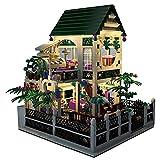 FYHCY Kit de Bloques de construcción de Arquitectura, Juguete Creativo de construcción de Casas románticas, Juguete Casas urbanas con 1500 Bloques de construcción de Abrazaderas y 4 Minifiguras