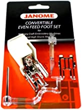 Janome Convertible Even Feed Foot Set Memory Craft Embroidery Machines & High Shank Models