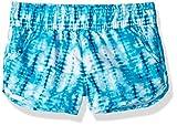 Kanu Surf Girls' Sandy UPF 50+ Quick Dry Beach Elastic Waist Boardshort, Willow Aqua Tie Dye, X-Large (16)