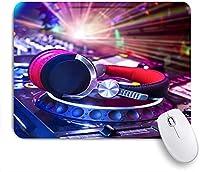 KAPANOU マウスパッド、DJヘッドセットバーナイト おしゃれ 耐久性が良い 滑り止めゴム底 ゲーミングなど適用 マウス 用ノートブックコンピュータマウスマット