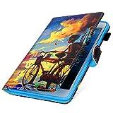 MoreChioce kompatibel mit Samsung Galaxy Tab A 10.1 Hülle,Dünn Radfahrender Junge Muster...