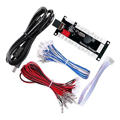 Zero-Delay-USB-Encoder von Hikig, PC auf Joystick für MAME-/Raspberry-Pi-/Arcade- Controller, Support zum Selbermachen für alle Arcade-Joysticks und Arcade-Tasten