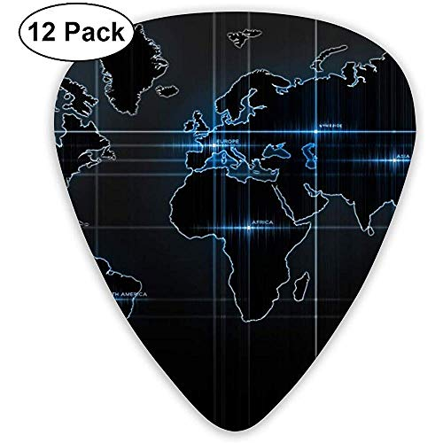 Plectrums Set,Pulse Map Gitaar Pick Plectrum, Charmante Gitaar Picks Voor Gitaar Spelers,12 Pack