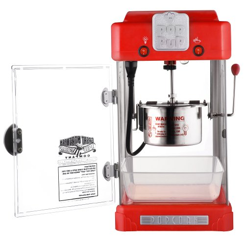 Product Image 4: Great Northern Popcorn 83-DT5622 Northern Machine Pop Pup 2-1/2oz Retro Style Popcorn Popper, 2.5 ounce, Red