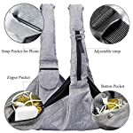 Musonic Pet Carrier, Hand Free Sling for Small Dog Cat Adjustable Cotton Padded Strap Outdoor Travel Shoulder Bag Tote Bag Safety Net Front Zipper Pocket Breathable Oxford Fabric Under 13 LBS Dogs 13